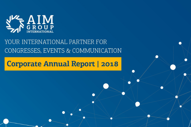 2018 annual report's frontpage: a year of steady growth