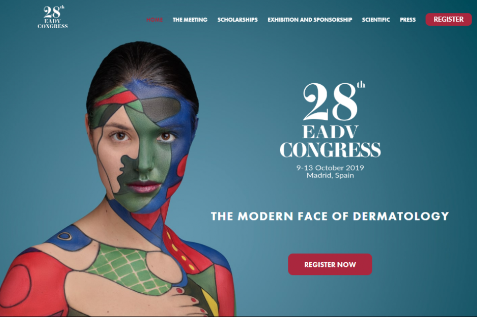 EADV_European_Academy_of_Dermatology_and_Venereology_website home page